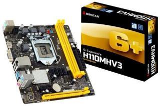 BIOSTAR H110MHV3 Hovedkort - Intel H110 Express - Intel LGA1151 socket - DDR3L (Low Voltage) RAM - Micro-ATX H110MHV3