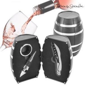 Vin tønne gavesett