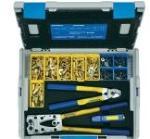 Klauke LBOXX65B Crimptænger-sæt 223 dele Rørkabelsko, Rørforbinder 6 til 50 mm² Inkl. kabelskærer, Inkl. kabelkniv, Inkl. rørkabelskosortiment i L-Boxx