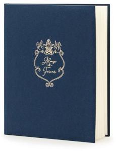 Gjestebok til Bryllup - Marineblå - Always & Forever