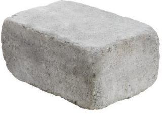 Aaltvedt Stein Rådhus mur / kantstein / endeblokk, 1/1 stein, Gråmix, fra Aaltvedt