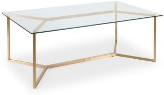 Concept 55 Palma Sofabord 130 cm - Glass/Messing