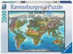 World Map 2000 biter Puslespill Ravensburger Puzzle