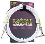 Ernie Ball EB-6049 3m instrumentkabel Hvit