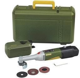 Batteridrevet vinkelsliper Proxxon LHW/A 10,8 V 1x2,6 Ah batt.