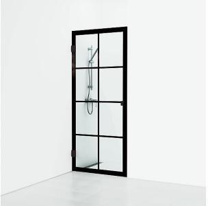Svedbergs 180° Rista Dusjnisje 800 mm, Sort Matt/Klart Glass
