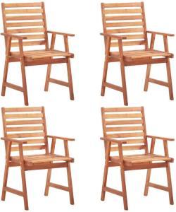 vidaXL Utendørs spisestoler 4 stk heltre akasie