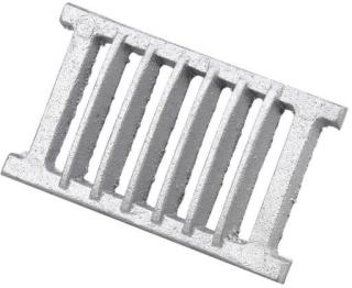 Duka Sokkelrist - 65x230 mm, støpt aluminium