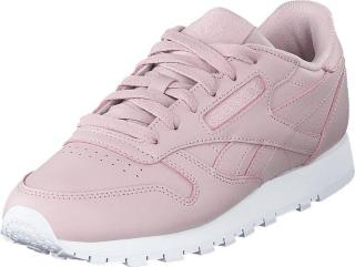 Reebok Classic Cl Lthr Ashen Lilac/white, Sko, Sneakers og Treningssko, Sneakers, Hvit, Dame, 41