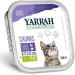 Yarrah Bio Biter i saus 6 x 100 g - Økologisk kylling & økologisk storfe med økologisk persille & timian