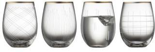 LYNGBY GLAS LYNGBY GLAS DRIKKEGLASS KLAR MED GULLKANT