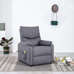 Massasjestol i stoff -lys grå