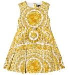 Versace Gold Baroque Floral Dress 6 years
