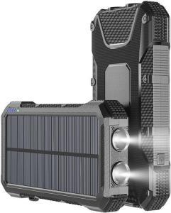 4smarts TitanPack Slim Solcellelader & Powerbank - 20000mAh - Svart