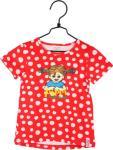 Pippi Langstrømpe Prikkete T-Shirt, Rød 110