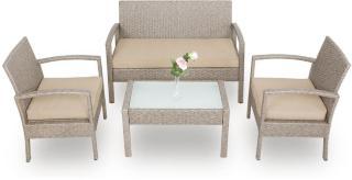 Sofagruppe polyotting patio - Grå / beige