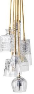 Ebb & Flow Group of 7 taklampe - Crystal, gold