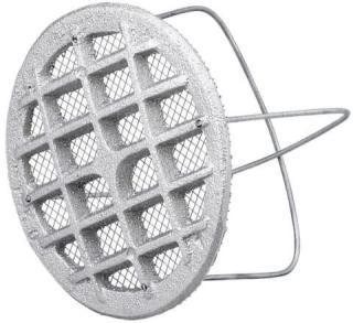 Duka ventilrist - Ø 110 mm, støpt i aluminium