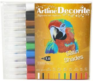 ARTLINE DECORITE METALLIC 10-PAKK