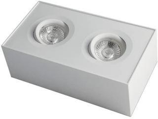 Utenpåliggende Dobbel Firkant Downlight 18W WarmDim 360 Tilt Hvit Nordic Products