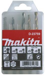 Borsett Makita 5/6 mm 5 stk