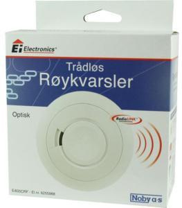 EI Electronics Røykvarsler optisk 9V batteri trådløs RadioLink 6255988 Brannvarsler