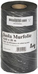 Isola Murfolie 0,23x25m for bunnsvill, overgang grunnmur/vegg Isola