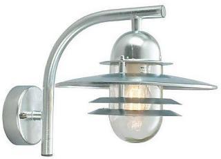 Norlys Oslo Vegglampe Galvanisert, Klart glass