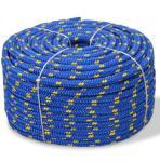 vidaXL Båttau polypropylen 6 mm 100 m blå