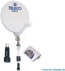 Parabolantenne Teleco Voyager Digimatic 85cm m/mast+Motosat