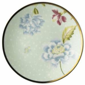 Asjett/Petit four 12cm.porselen  Laura Ashly Heritage Mint Uni