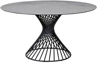 Iggy Spisebord 140 cm Rund Glass - Grå