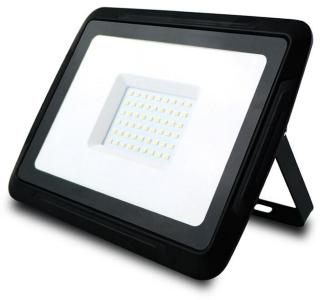LED-strålkastare, 50W 3000K, Svart