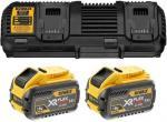 Tilbehørsett DeWalt FlexVolt 18 V 2x9,0 Ah batteri + lader