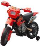 vidaXL Elektrisk rød motorsykkel til barn