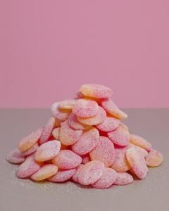 Sukkerfri Peach Fersken Godteri 1kg