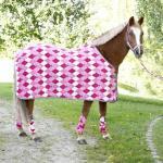 Covalliero fleecedekken for ponni, firkantet design