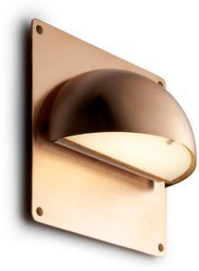 Rørhat Utendørs Vegglampe Kobber med bakplate - LIGHT-POINT