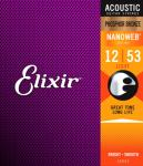 Elixir Phosphor Bronze ak.gitar 6str. (012-053) Light 16052