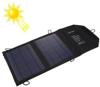 Solcellelader med 2 usb porter til iPhone, iPad, Samsung, Sony