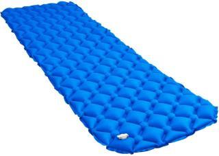 vidaXL Oppblåsbar luftmadrass 58x190 cm blå