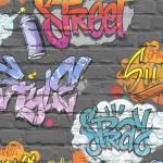 DUTCH WALLCOVERINGS Veggpanel grafitti flerfarget L179-01