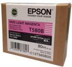 Epson Vivid Light Magenta 80 ml blekkpatron T580B - Epson Pro 3880
