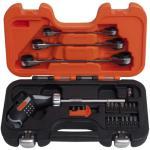 BAHCO Bitsskrutrekker sett og skrallenøkler pistolgrep 808050P-25