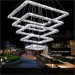 0 Kvadratisk LED Taklampe