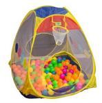 Ballrom med100 baller - Firkantet aktivitetshytte med to innganger