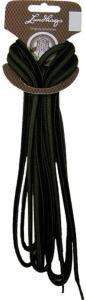 Lundhags Shoe Laces 200 CM, Black/Green, 200 CM