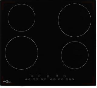 vidaXL Keramisk komfyr med 4 plater berøringskontroll 6000 W