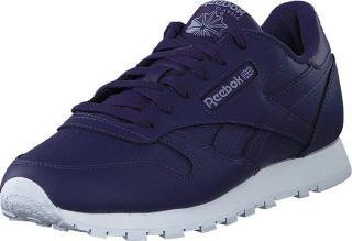 Reebok Classic Cl Lthr Mysorc/white/viohaz, Sko, Sneakers og Treningssko, Sneakers, Blå, Dame, 41