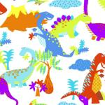 Kids at Home Veggpanel Dinosaur flerfarget 100116